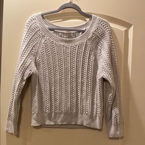 Gray Crop sweater